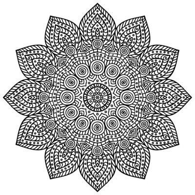 Veggklistremerke Mandala