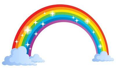 Vinilo para Pared Imagen con el tema del arco iris 1
