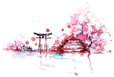 Wandtattoo Japan