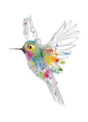 Wandtattoo Kolibri