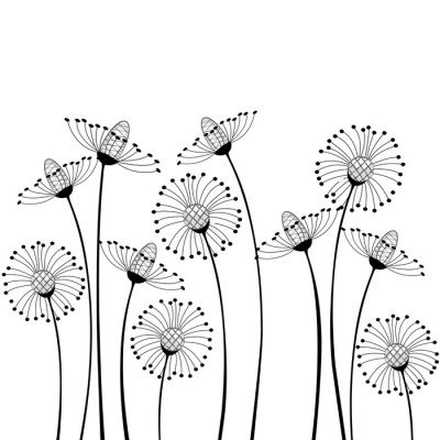 Wandtattoo Wiesenblumen