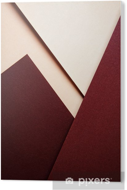 a minimalist geometric composition with colored papers Acrylic Print - Business