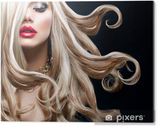 Blond Hair. Beautiful Sexy Blonde Girl Acrylic Print - Fashion
