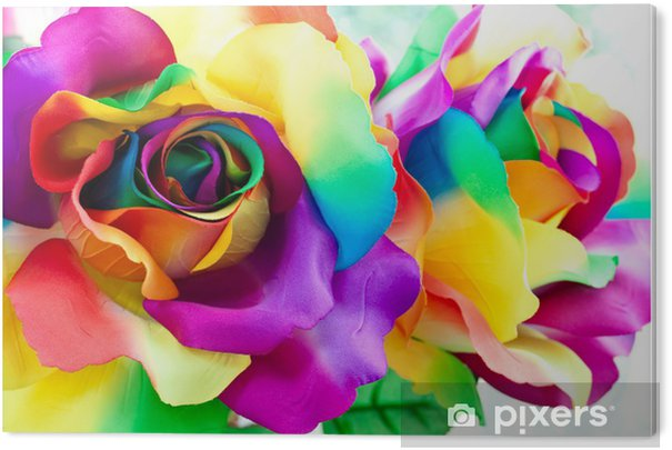 fake rose flower Acrylic Print -