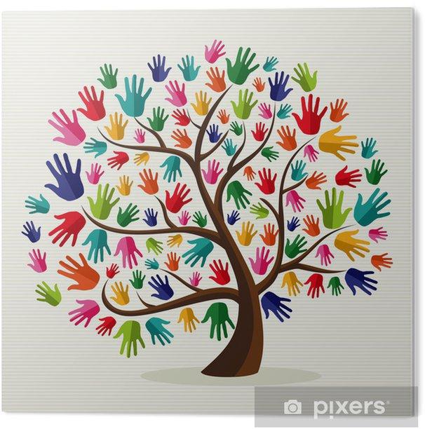 Akrylbilde Fargerikt solidaritet håndtre • Pixers® - Vi lever for ...