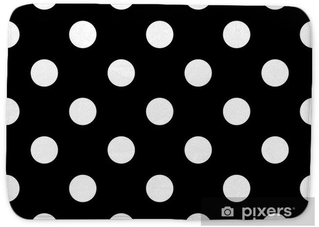 Alfombrilla de baño Lunares sin costura en blanco y negro - Recursos gráficos