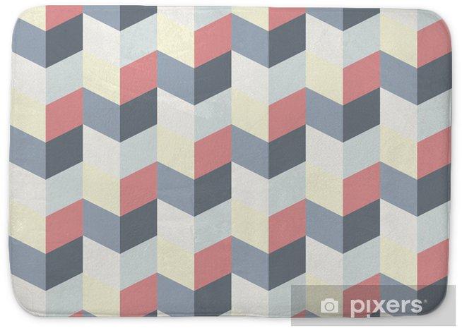 Alfombrilla de baño Patrón geométrico abstracto retro - Fondos