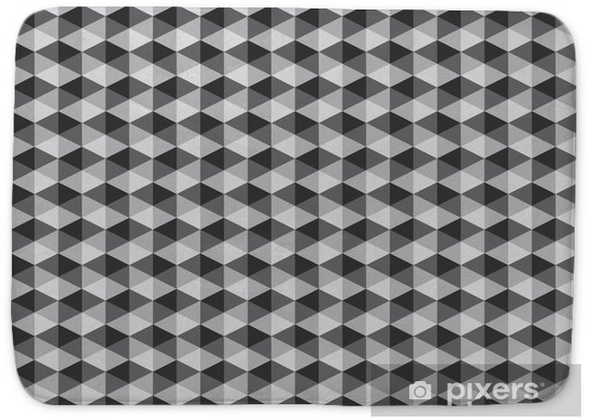 Alfombrilla de baño Resumen retro patrones geométricos de color blanco y negro tono vect - Recursos gráficos