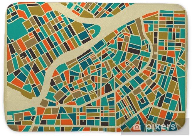 Alfombrilla de baño San Petersburgo mapa vectorial. base de colorido diseño de la vendimia para la tarjeta de viaje, publicidad, regalo o un cartel. - Viajes