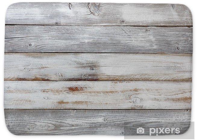 Alfombrilla de baño Tablas de madera pintadas blancas resistidas reclamadas - Industria