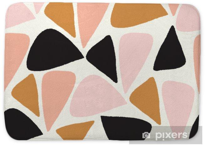 Alfombrilla de baño Vector abstracto geométrico sin fisuras patrón de repetición en rosa, oro, blanco y negro - Recursos gráficos