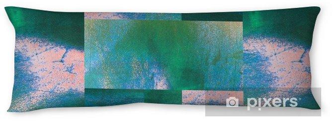 Almohada larga Fondo abstracto geométrico de color turquesa para envolturas, textiles, papel pintado, superficie o su diseño. patrón de grunge de arte abstracto. forma curva cuadrada, rectángulos y trapecio. pintada. - Hobbies y entretenimiento