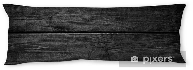 Almohada larga Fondo negro de madera - Texturas