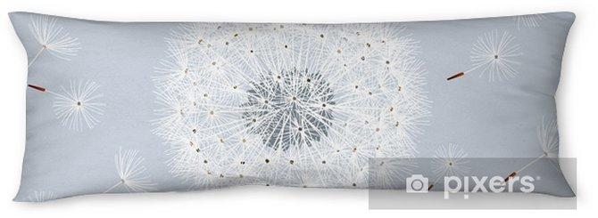 Almohada larga Gris Patrón transparente con flores dientes de león - Plantas y flores