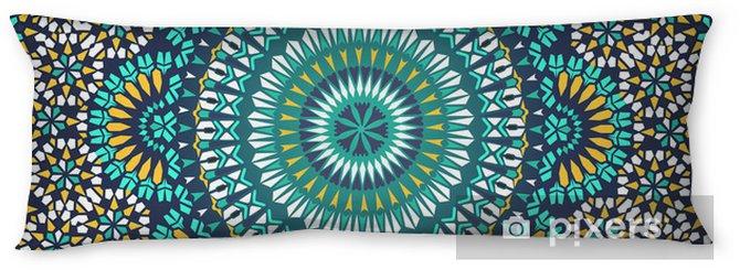 Almohada larga Modelo inconsútil en estilo étnico mosaico. - Mosaico