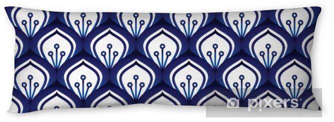 Almohada larga Patrón de porcelana sin costura - Recursos gráficos