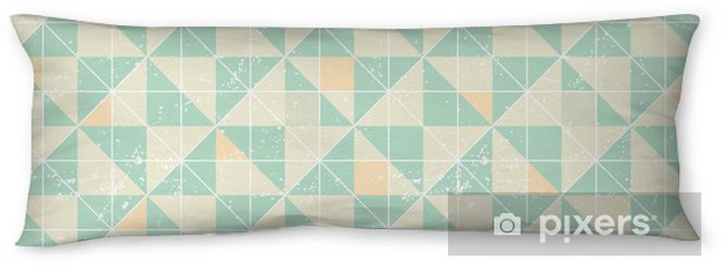 Almohada larga Patrón geométrico transparente con elementos de origami. - Temas
