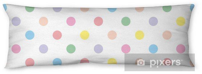 Almohada larga Seamless vector patrón de fondo en colores pastel lunares coloridos - Temas