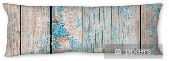Almohada larga Tablas de madera viejas pintadas con pintura azul - Recursos gráficos