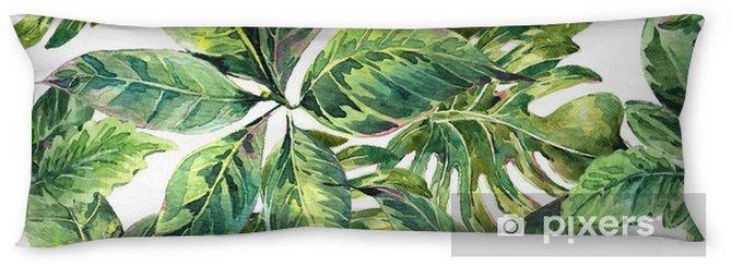 Almohada larga Verano acuarela exótica patrón transparente - Hobbies y entretenimiento