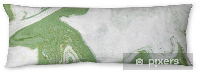 Almohada larga Veteado de mármol y fondo abstracto de oro. patrón de mármol líquido. - Recursos gráficos