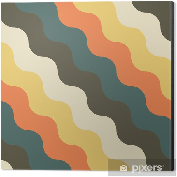 abstract retro geometric pattern Aluminium Print (Dibond) - Backgrounds