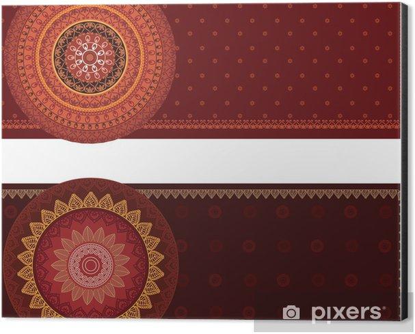Henna Mandala Banners Aluminium Print (Dibond) -