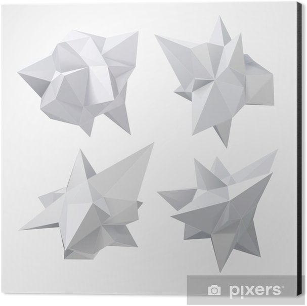 Low polygon geometry shape. Vector illustration Aluminium Print (Dibond) - Business
