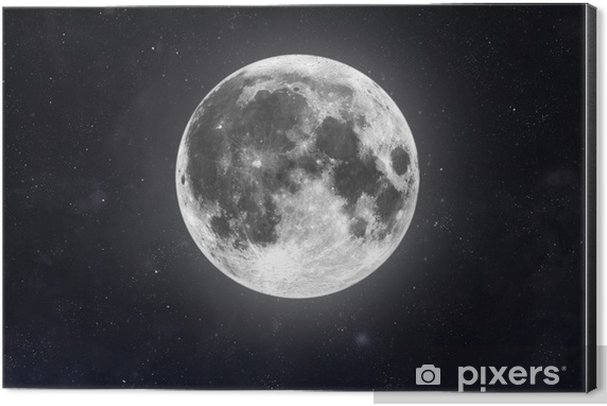 Moon Aluminium Print (Dibond) - Outer Space