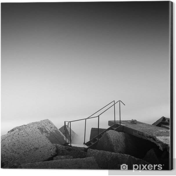 steps to nowhere Aluminium Print (Dibond) - Travel