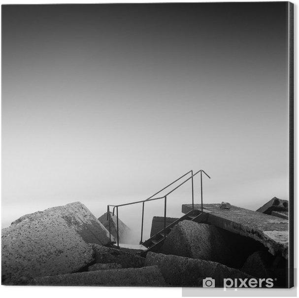 steps to nowhere Aluminium Print (Dibond) - Travel