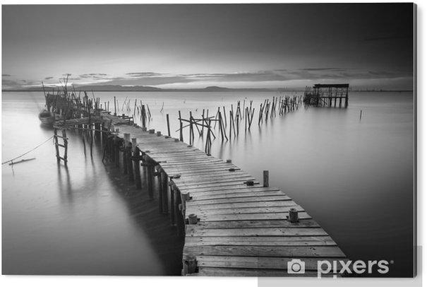 Aluminium Print Een rustige oude pier - Landschappen