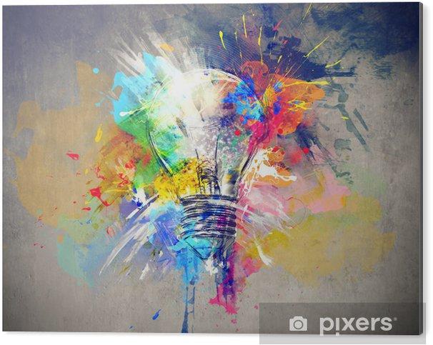Aluminium Print Kleurrijke Licht -