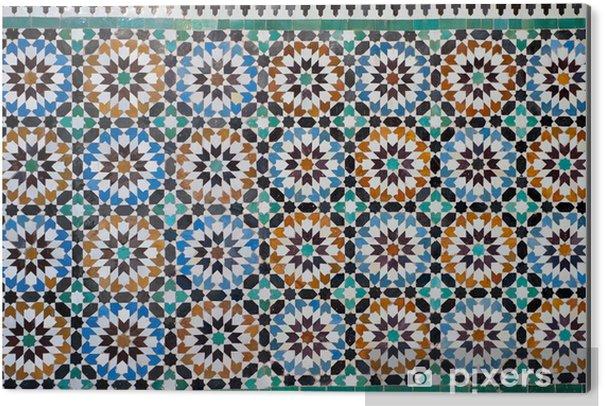 Aluminium Print Marokkaanse vintage tegel achtergrond - Marokko