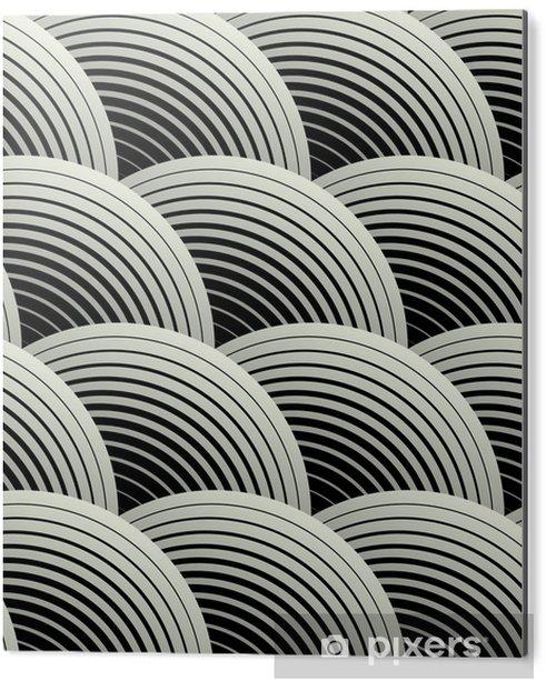 Aluminium Print Sierlijke Geometrische Bloemblaadjes Grid, Abstract Vector Naadloos Patroon - Thema's