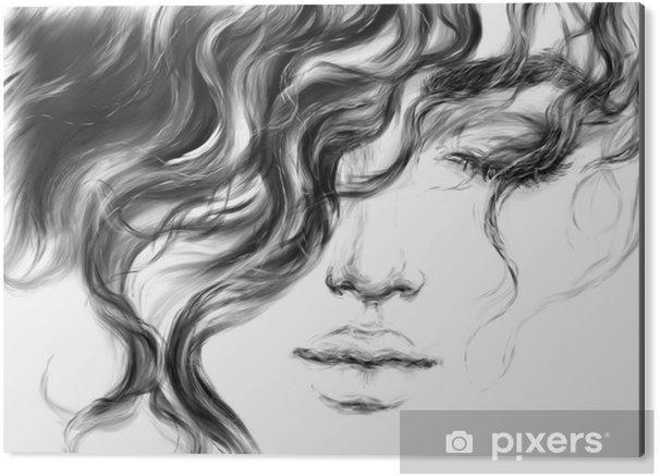 Aluminiumtavla Ung kvinna. mode illustration. - Människor
