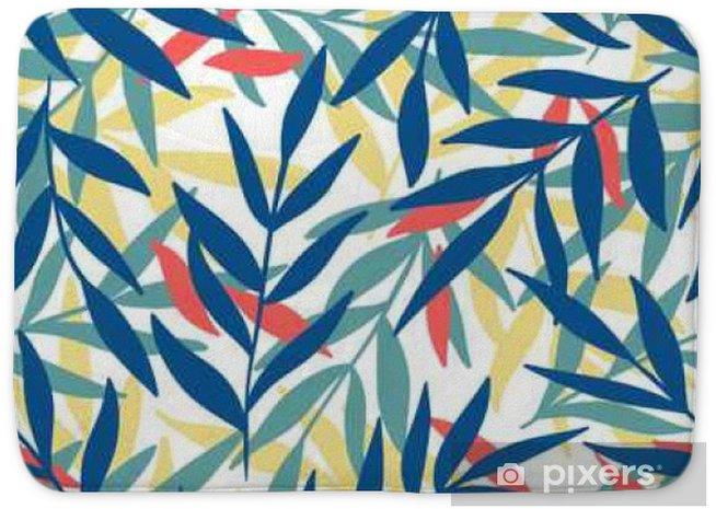 Badmat Exotische bladeren, regenwoud. - Bloemen en Planten