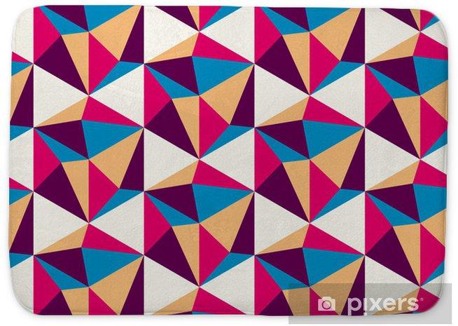 Badmat Kleur geometrisch patroon - Achtergrond