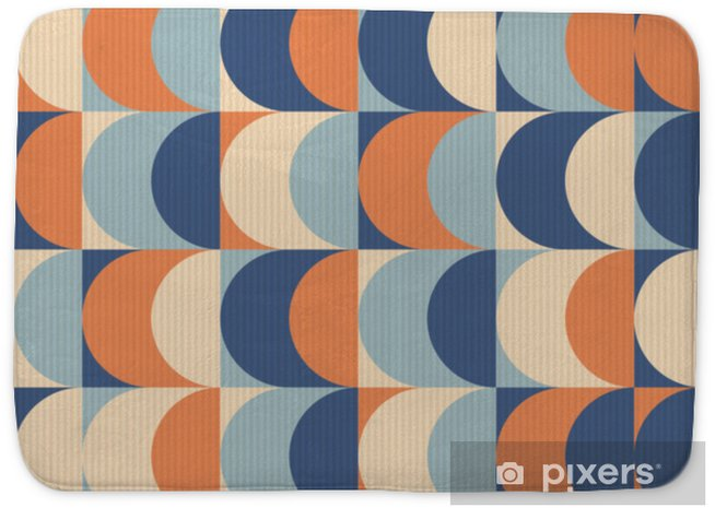 Badmat Naadloze vintage geometrische patroon - Grafische Bronnen