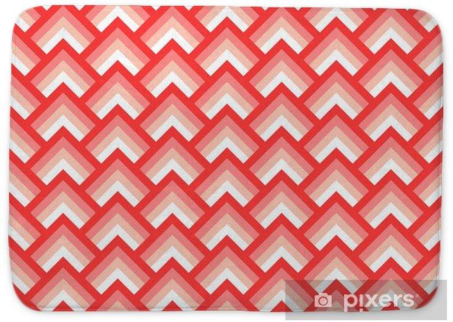 Badmat Roze en witte chevron geometrische naadloze patroon, vector - Thema's