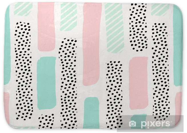 Abstract Brush Strokes Pattern Bath Mat - Graphic Resources