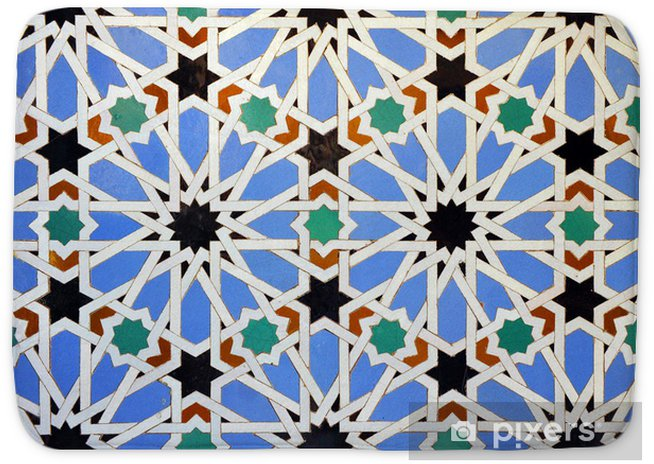 Alicatado Azulejos Mosaico Alcázar De Sevilla Bath Mat Pixers We Live To Change