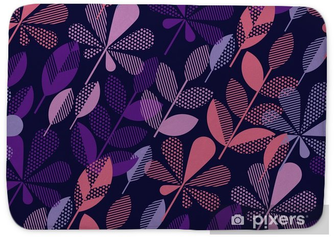 Autumn Leaf Fall Geometry Modern Motif In Bright Vivid