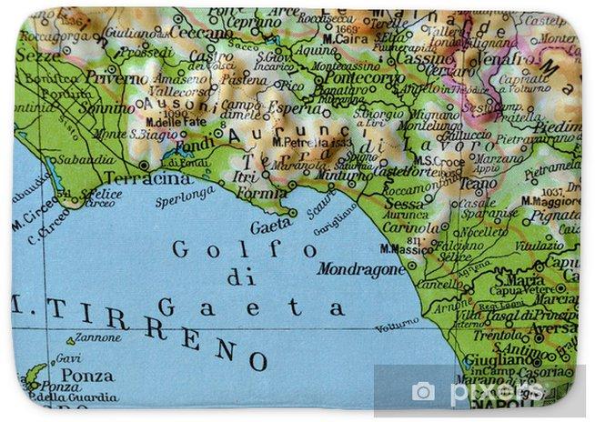 Cartina Idrografica Lazio.Cartina Geografica Del Lazio Golfo Di Gaeta Bath Mat Pixers