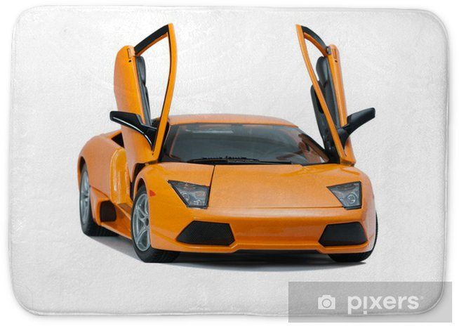 Collectible Toy Model Lamborghini Front View Bath Mat Pixers We