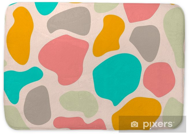 Colorful Messy Abstract Seamless Pattern With Uneven Round