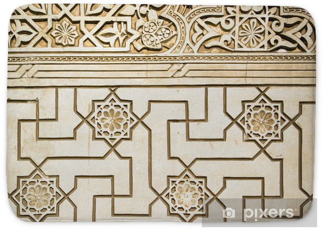 Geometry Ancient Arabic Stone Carving Bath Mat Pixers We Live To Change