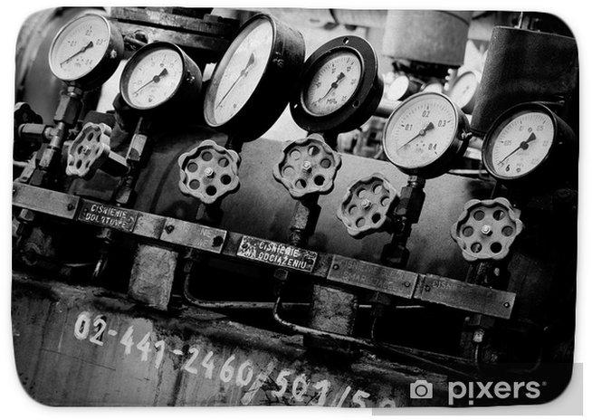 Industrialne zegary Bath Mat • Pixers