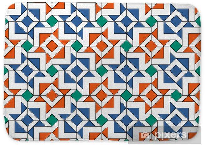 Islamic Tiles Pattern Bath Mat Pixers We Live To Change