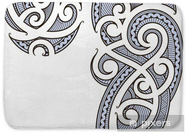 692884907f8c1 Maori tattoo design Bath Mat • Pixers® - We live to change